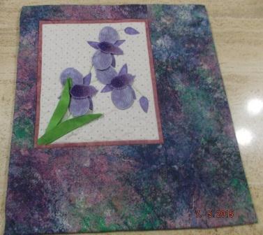 3D purple quilt